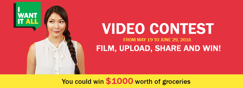 I Want It All Video Contest