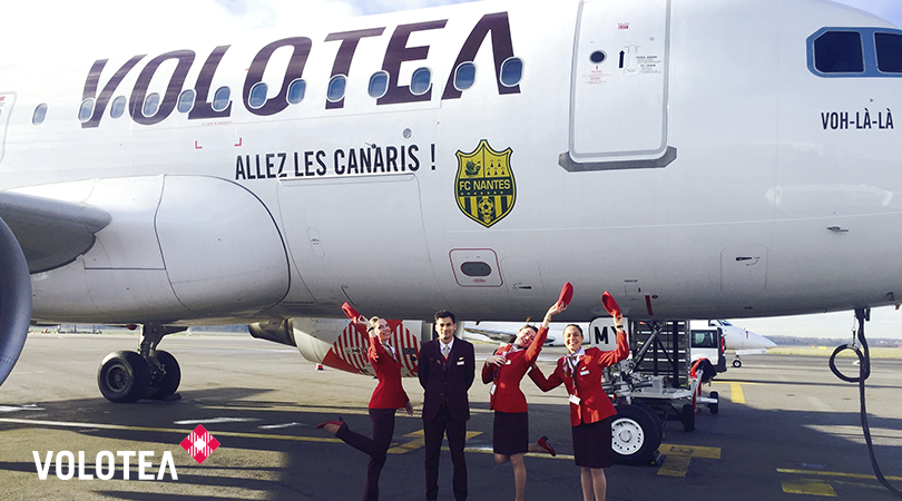 envolez vous supporter le fc nantes avec volotea. Black Bedroom Furniture Sets. Home Design Ideas