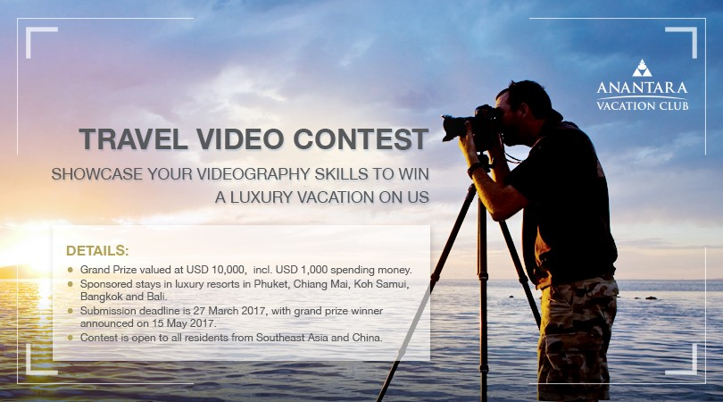Travel Video Contest: Win a Luxury Trip Valued At USD 10,000!