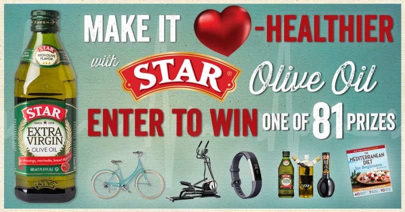 Make it Heart-Healthier with STAR Olive Oil!